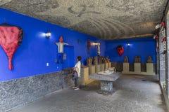 Blauw Huisla Casa Azul Stock Afbeeldingen