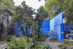 Blauw Huisla Casa Azul Royalty-vrije Stock Fotografie