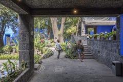 Blauw Huisla Casa Azul Stock Foto's