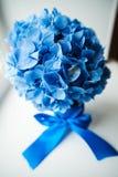 Blauw huwelijksboeket Stock Afbeeldingen