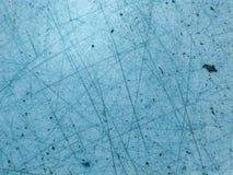 Blauw ijs met kras   Stock Afbeeldingen