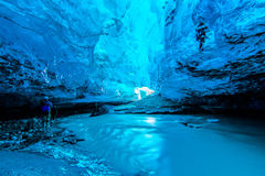 Blauw ijshol in IJsland Royalty-vrije Stock Afbeelding