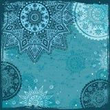 Blauw Indisch etnisch ornament Royalty-vrije Stock Foto
