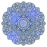 Blauw Indisch ornament Royalty-vrije Stock Foto