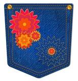 Blauw Jean Pocket Royalty-vrije Stock Foto's