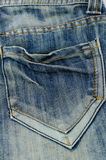 Blauw Jean Pocket Stock Afbeelding