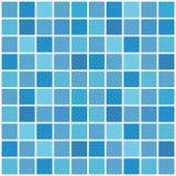 Blauw keramische tegelmozaïek in zwembad Vector illustratie stock illustratie