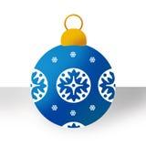 Blauw Kerstmisornament Stock Foto