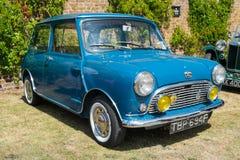 Blauw Klassiek Austin Mini Royalty-vrije Stock Afbeelding