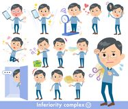 Blauw kledingsglas dad_complex vector illustratie