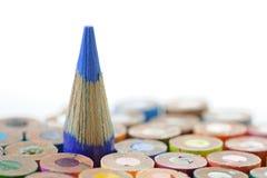Blauw Kleurpotlood Royalty-vrije Stock Afbeeldingen