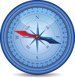 Blauw Kompas Royalty-vrije Stock Fotografie