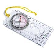 Blauw kompas op wit Royalty-vrije Stock Fotografie