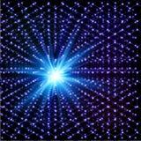 Blauw kosmisch het glanzen moleculair hexagonaal vectornet stock illustratie