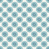 Blauw krabbel bloemen naadloos patroon Stock Foto