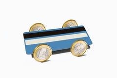 Blauw krediet. Stock Foto