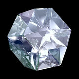 Blauw kristal stock illustratie