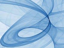 Blauw in Kromme, Licht Royalty-vrije Stock Afbeeldingen