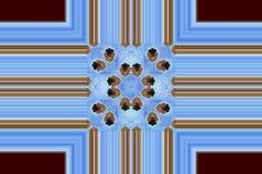 Blauw kruis Stock Afbeeldingen