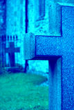 Blauw Kruis Stock Foto's