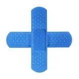 Blauw kruis stock afbeelding