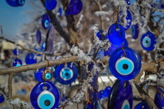Blauw Kwaad Oog (Turks Oog), Capaddocia, Turkije Royalty-vrije Stock Foto's