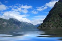 Blauw landschap Stock Foto