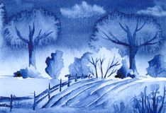 Blauw Landschap Stock Fotografie