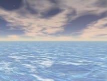 Blauw landschap royalty-vrije illustratie