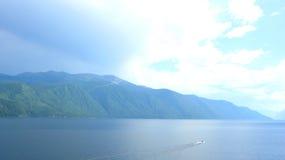 Blauw landschap royalty-vrije stock foto