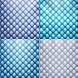 Blauw leer, textuurreeks Eps 10 Royalty-vrije Stock Afbeelding