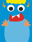 Blauw leuk monster Royalty-vrije Stock Foto