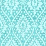 Blauw licht bloemen naadloos patroon met kroon uitstekende achtergrond Royalty-vrije Stock Foto