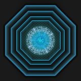 Blauw licht in het donkere grijs van de netwerkschaduw als achtergrond vector illustratie