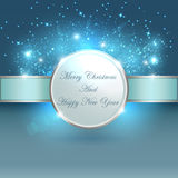 Blauw licht voor Kerstmisbanner Royalty-vrije Stock Afbeelding