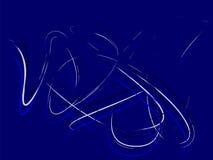 Blauw lijnart. royalty-vrije illustratie