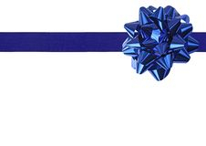 Blauw lint Royalty-vrije Stock Foto's