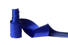 Blauw lint Stock Afbeelding