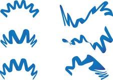 Blauw lint Stock Illustratie