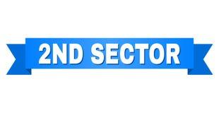 Blauw Lint met 2ND SECTORtitel stock illustratie