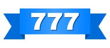 Blauw Lint met Titel 777 Stock Afbeeldingen