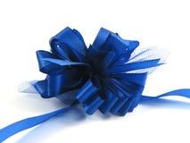 Blauw lint op witte achtergrond Royalty-vrije Stock Fotografie