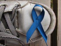 Blauw lint voor prostate voorlichtingscampagne van kanker Stock Fotografie