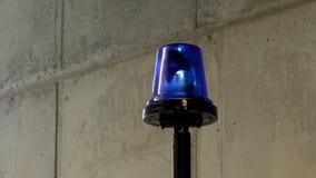 Blauw loopable noodsituatie licht baken stock videobeelden