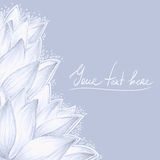 Blauw lotusbloem leeg ontwerp Royalty-vrije Stock Foto