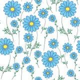 Blauw madeliefje op een witte achtergrond royalty-vrije illustratie