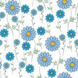 Blauw madeliefje op een witte achtergrond stock illustratie