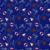 Blauw marien naadloos patroon Royalty-vrije Stock Fotografie