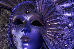 Blauw masker Stock Afbeelding