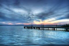 Blauw Meer stock afbeelding